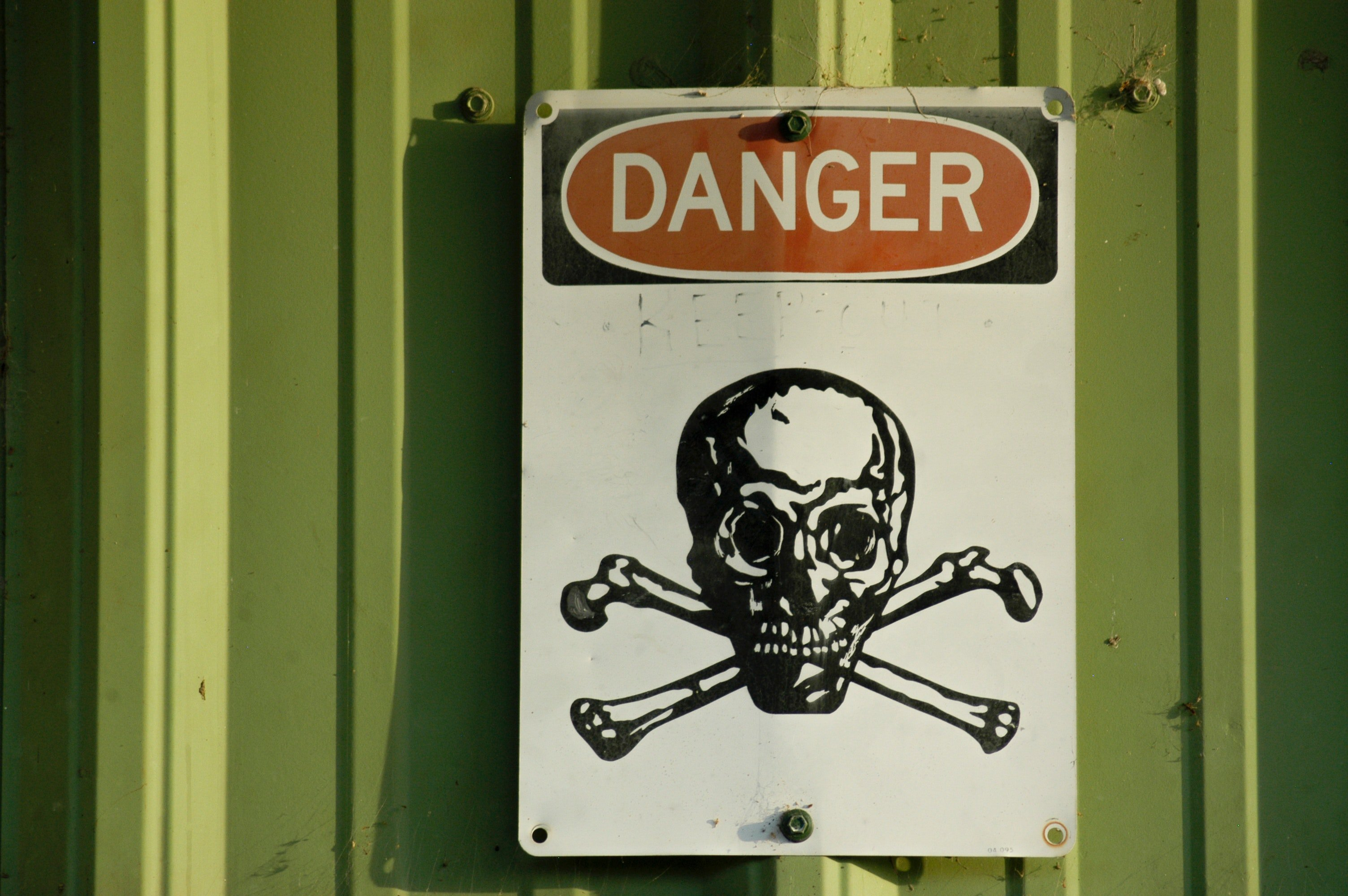 Placa de perigo